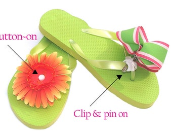 New Accessory Connectz® Interchangeable Flip Flop bows clips fashion accessories how to flip flops PATENTED kit