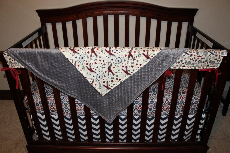 Airplane baby boy crib bedding maverick by designsbychristys - Airplane crib bedding sets ...