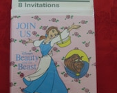 Vintage Disney Beauty and the Beast Factory Sealed Invitations