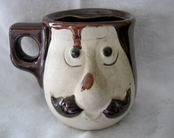 Vintage Mustache Shaving Mug