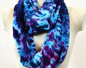 Tie Dye Scarf, Circle Scarf, Infinity Scarf, Nursing Cover, Chunky Scarf, Head Scarf, Baby Shower Gift