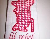 Colonel Rebel Inspired Cloth Diaper Burp Pad Handmade