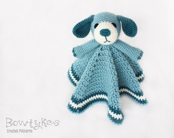 Dog Lovey CROCHET PATTERN instant download - blankey, blankie, security blanket, puppy