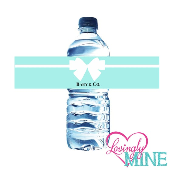 baby shower water bottle labels instant download by lovinglymine
