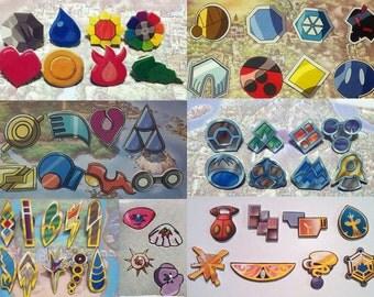 Full set of Pokemon Badges - set of 54