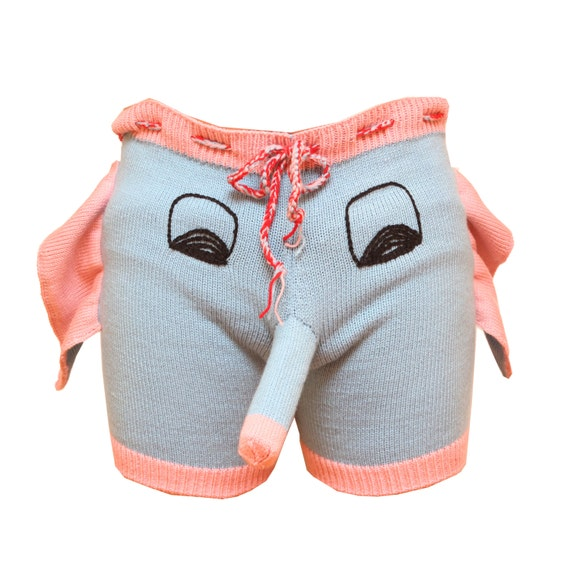 Shorts Boxers Trousers Handmade Gray Elephant Men Present - photo#4