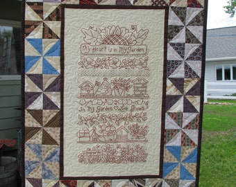 Quilt Wall Hanging Garden Poem