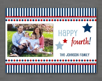 Fourth of (4th of) July / Independence Day Photo Card--Custom Printable