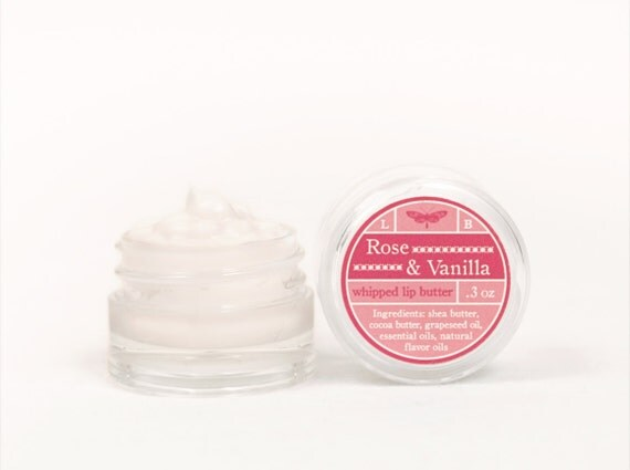 ON SALE - Rose & Vanilla - Whipped Lip Butter - Natural Icing for Your Lips