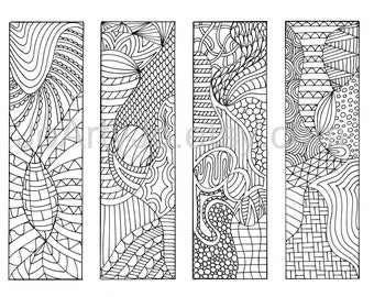 coloring bookmarks to print 12 zentangle inspired printable bookmarks - Print And Color