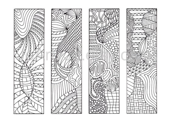 coloring bookmarks to print 12 zentangle inspired printable bookmarks
