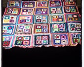 Large bright crochet blanket