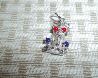 Sterling Siver Owl Charm