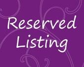 Reserved Listing For VintageMaryT....