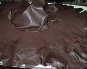Italian thick lambskin leather skins hides GRAINY BROWN CHOCOLATE 6+sqf