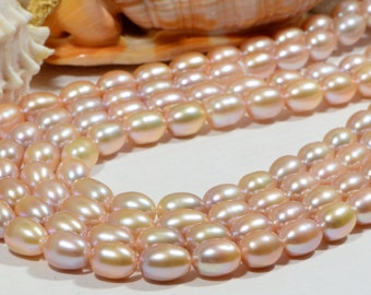 Freshwater Pearl Rice  12x9mm Pearl Beads Jewelry Making Supplies