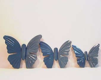 3 Upcycled Metal Tole Homco Butterflies Home Interior Homco Tropical Oasis
