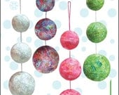 Bali Christmas Balls PDF Pattern by Cool Cat Creations, Make Your Own Christmas Ornaments This Year in The Fabrics You Want