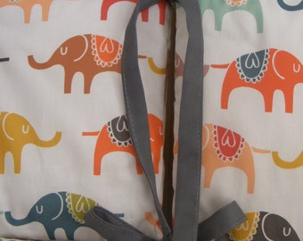 Custom baby bedding / Crib Bumpers/ Multicolor Modern Grey Yellow Coral Elephant