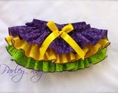 Beautiful Parley Ray Mardi Gras Ruffle Diaper Cover Baby Bloomers/ Photo Prop