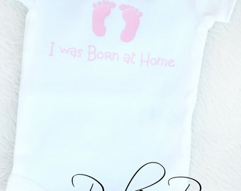 Pink Homebirth Long Sleeve Receiving Bodysuit Newborn I'm Special I was Born at Home