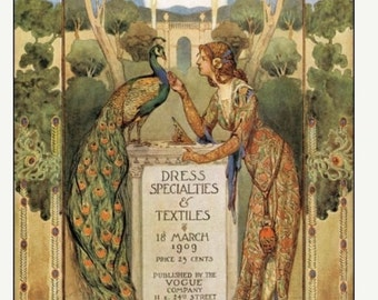 Vogue Cover print from 1909 in large size