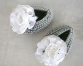 Baby Booties Girl Shoes,Hand Knitted Baby Girl Booties,knit Baby Shoes, knit Baby Booties, Baby Girl Shoes,Baby Booties,