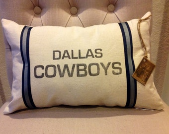 Dallas Cowboys Football Pillow