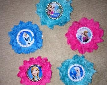 Frozen Hair Clip - Shabby flower hair clip - You pick!