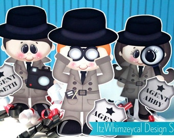 Personalized Spy Secret Agent Centerpiece