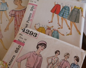 FIVE Vintage SIMPLICITY  Sewing Patterns  Size 9 -14