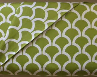 Billow in Kiwi in Cotton Sateen from the Bekko Collection  by Michael Miller Fabrics - ONE YARD Cut