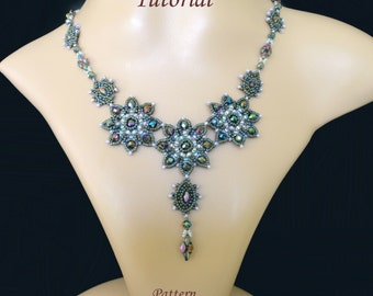 LABRADOR superduo beaded necklace beading tutorials and patterns seed bead beadwork jewelry beadweaving instructions