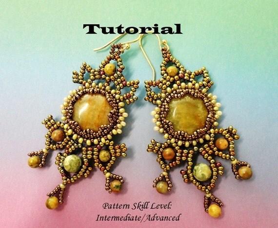 PARISIENNES beaded earrings beading tutorial beadweaving pattern seed bead beadwork jewelry beadweaving tutorial beading pattern instruction