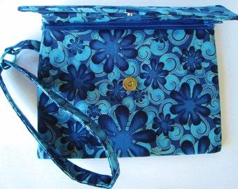 Blue Flower Clutch