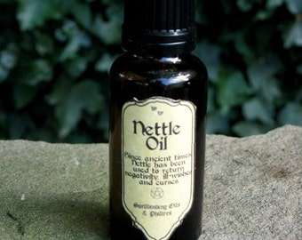 Magical Nettle Oil 25ml: Witchcraft, Occult, Magic, Wicca, Pagan