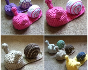 Crochet Baby Snail Outfit