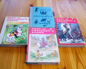 "Vintage 50's - 60'   ""BEST of CHILDREN'S BOOKS"" Hard Cover Books - Set of 4"