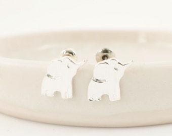 Elephant studs, Elephant stud earrings, Elephant earrings, Elephant love, Silver elephant, Tiny silver studs, Hippie jewelry, Unique gift,
