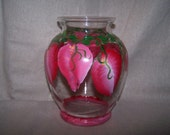 Valentines Day Hand Painted Heart Vase