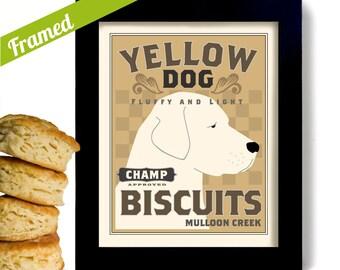 Labrador Retriever Yellow Dog Kitchen Art Print Personalized