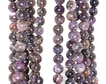 10MM Mauve Lepidolite Gemstone, Brown Purple, Round 10MM Loose Beads 7.5inch Half Strand (90181566-161)