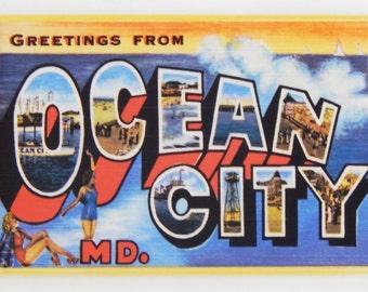Greetings from Ocean City Maryland Fridge Magnet