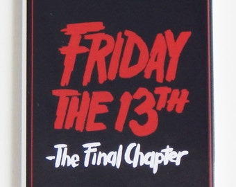 Friday the 13th Part 4 Movie Poster Fridge Magnet (1.5 x 4.5 inches)