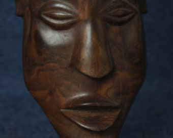 African Hand Carved Wooden Mask, Home Decor, Ethnic, Woodcarving