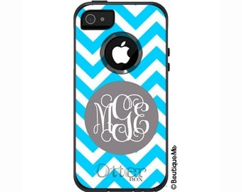 Chevron Monogrammed Otterbox Commuter Case for iPhone 6/6s Plus, iPhone 6/6s, iPhone 5c, iPhone 5, Galaxy S4, Galaxy S5