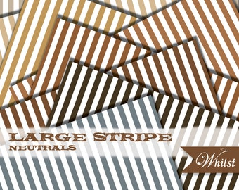 Brown digital paper stripe woodland scrapbooking woodsy paper in brown gold kraft gray : B0193 v301 neutral