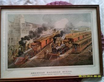 American Railroad Scene