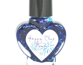 Happy Blue Year Jelly Nail Polish 5ml Mini Bottle