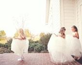 Flower Girl Dress:  The Ballerina Dress. Romantic tutu skirt. Fully lined. Tulle flower girl dress